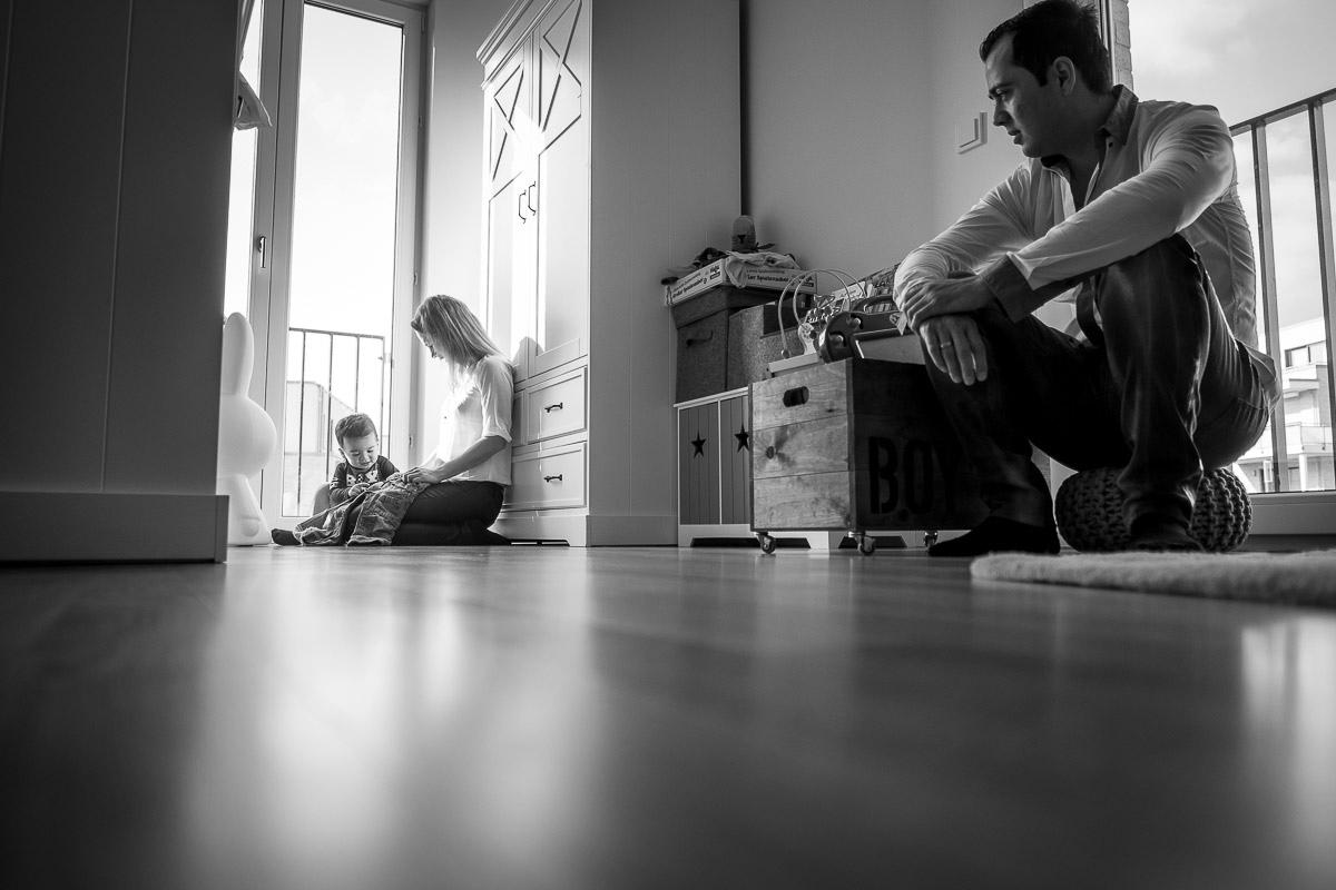 Familienfotos zuhause mit Kinderfotografin Düsseldorf