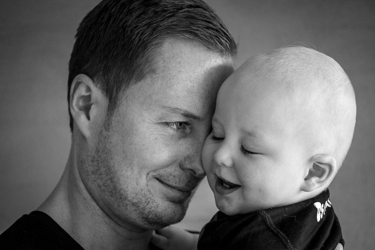 Vater und Sohn Porträt in Day in a Life