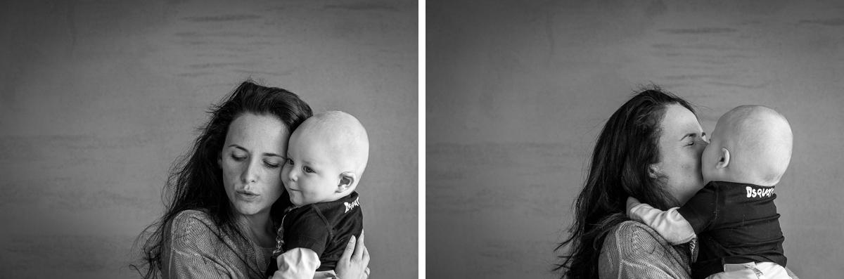 Muter und Sohn Porträt für Day in A Life
