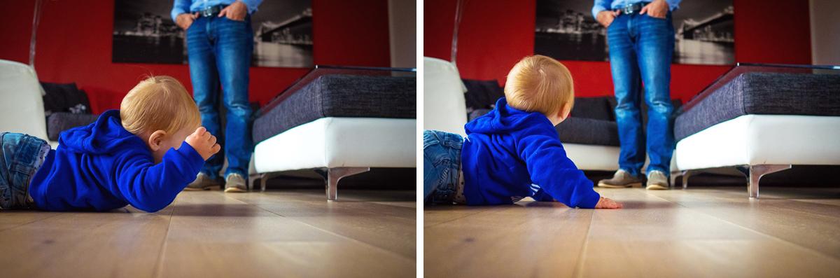 Kleinkind mit Vater für Familienfotografin Solingen