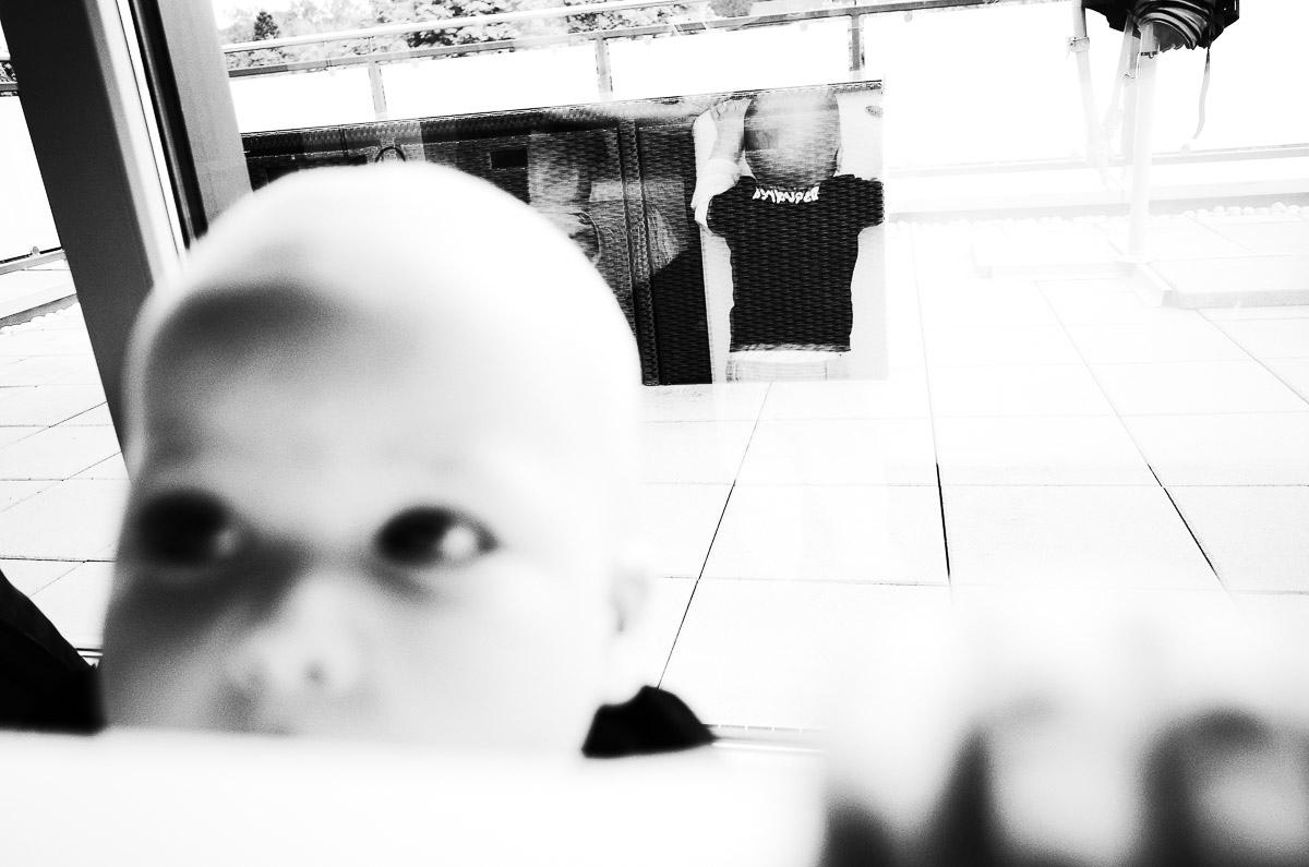Schwarzweißporträt als Kinderfoto