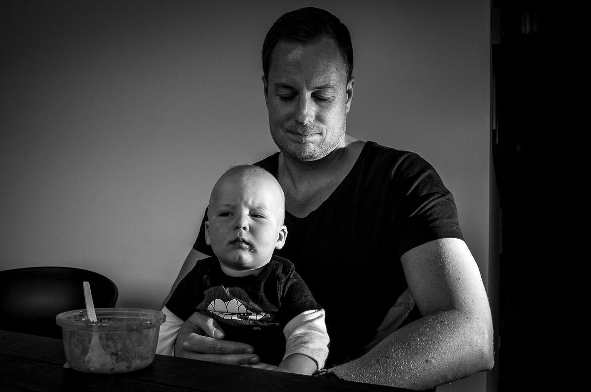 Vater und Sohn als Familienfoto Solingen