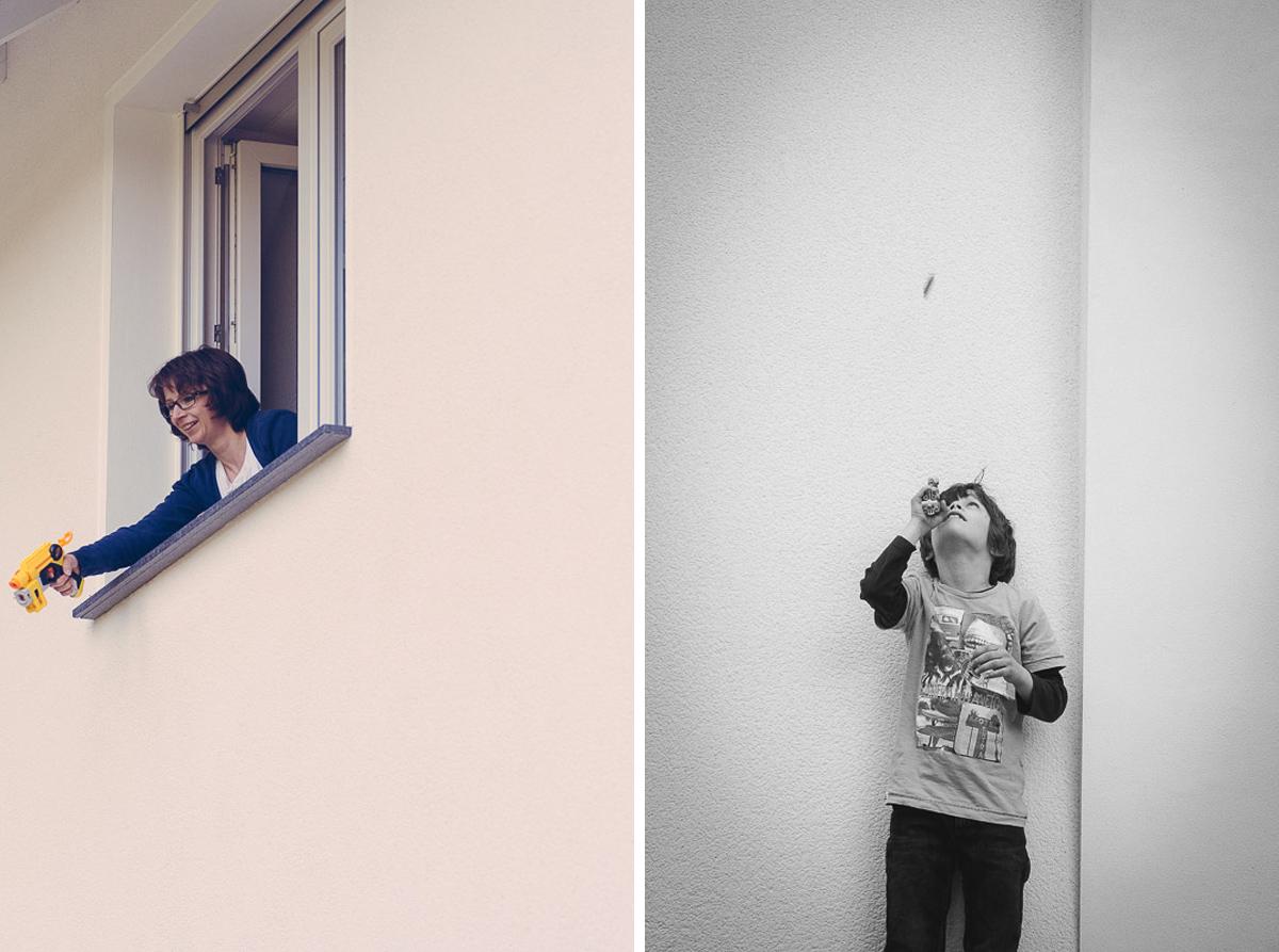 Familienfotos im eigenen Zuhause