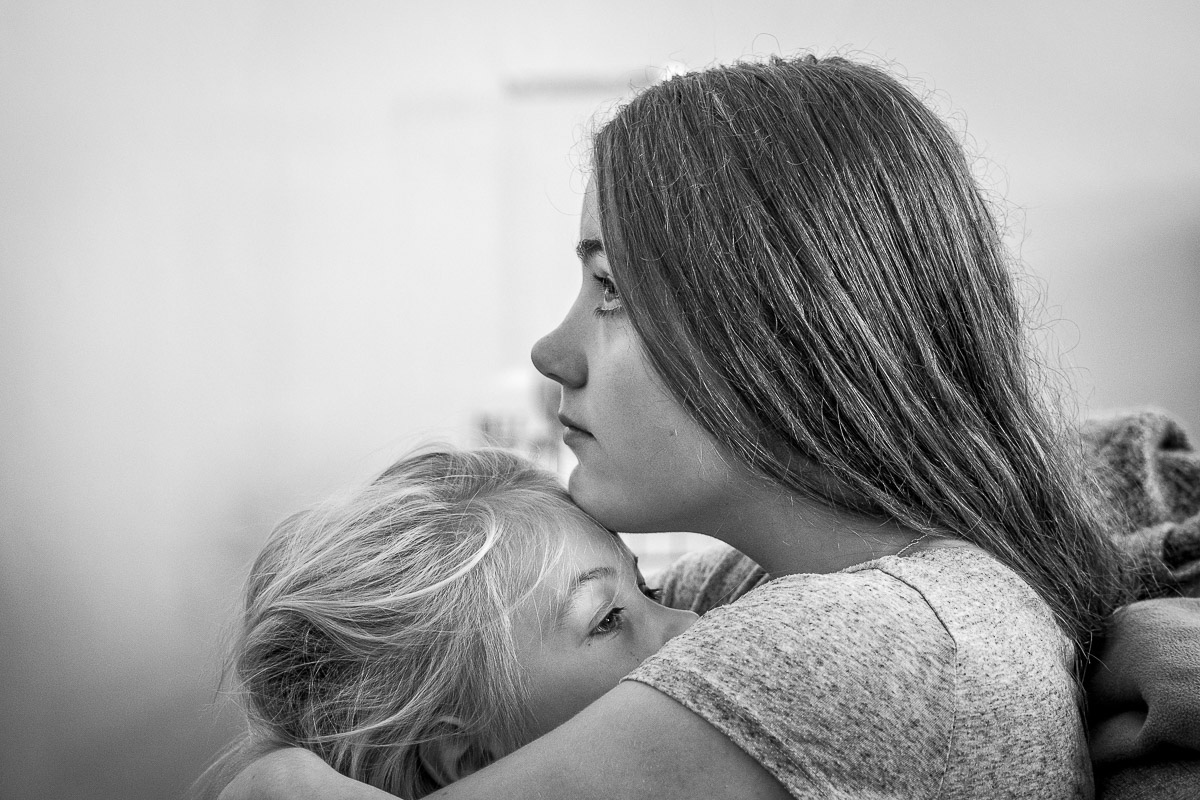 Geschwisterporträt als Day in a life Familienreportage