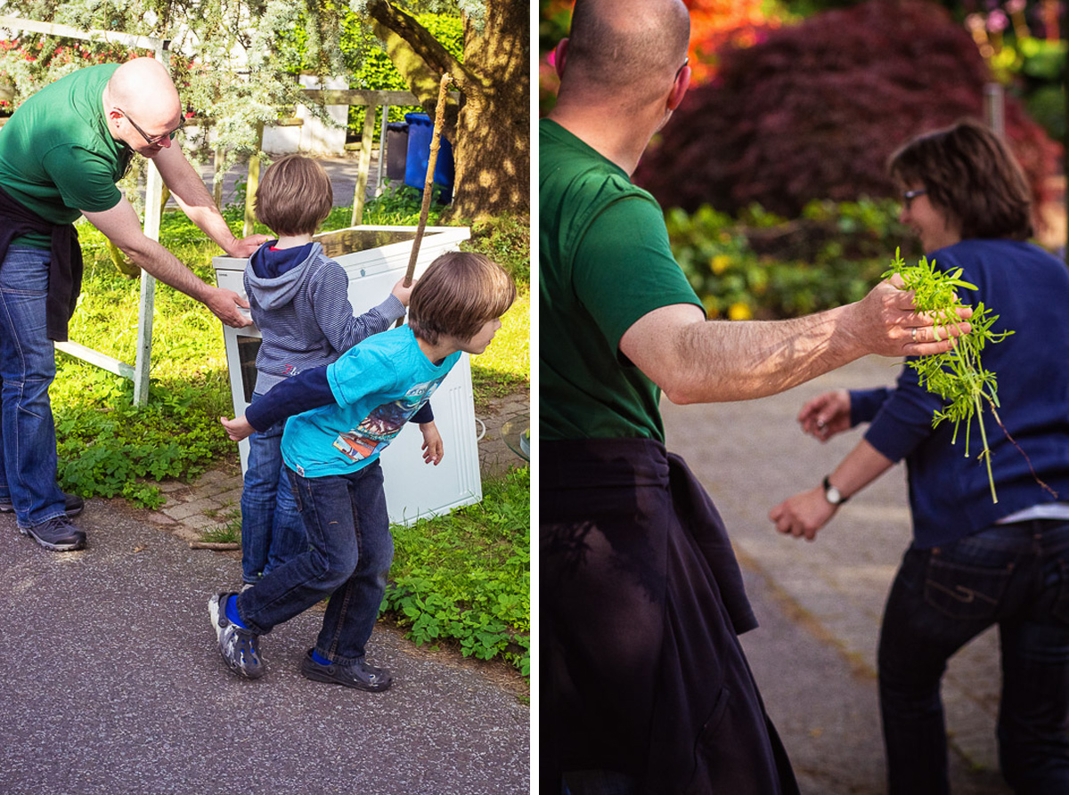 Familienfotos im Grünen mit Familienfotografin Solingen