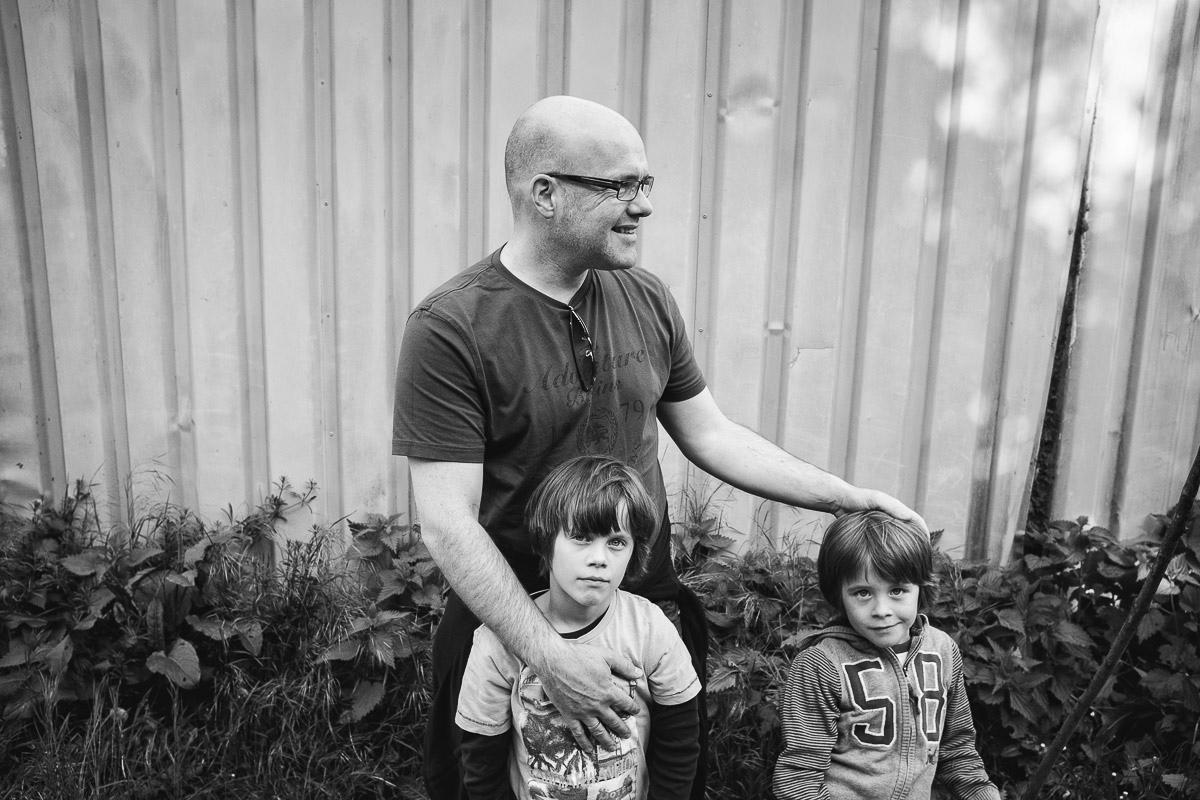 Entspannte Familienfotos mit Fotografin