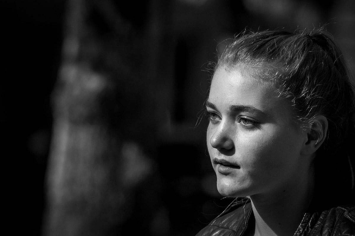 Natürliches Mädchenporträt für Familienfotograf Wuppertal