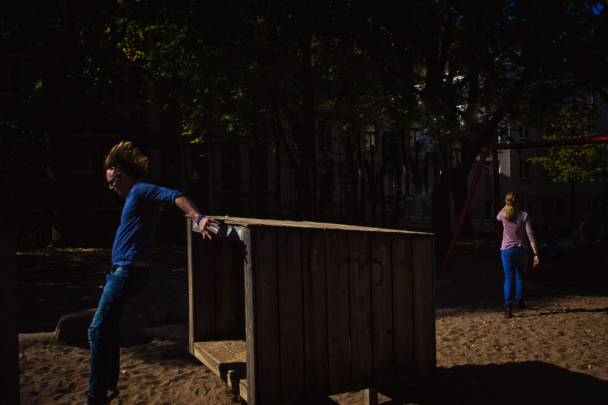 Familienfots auf dem Spielplatz