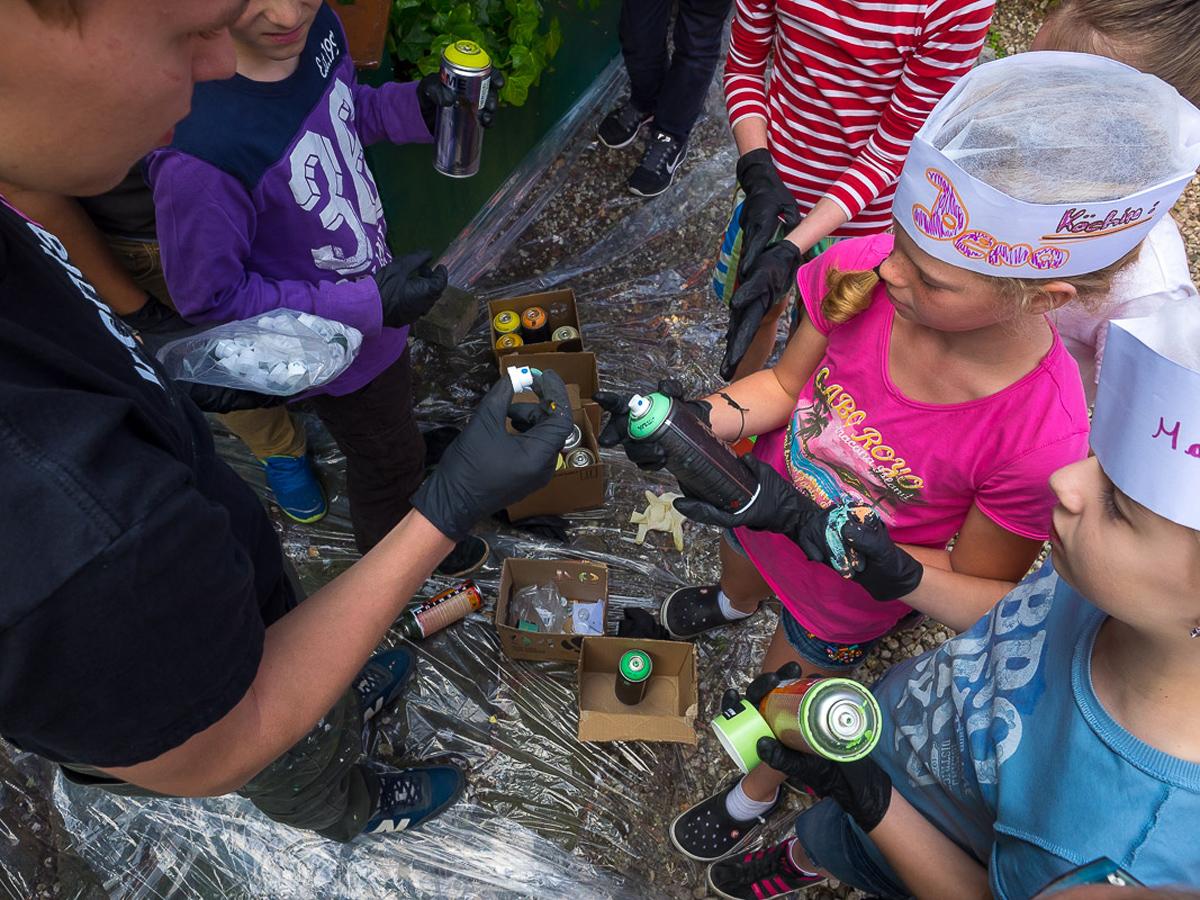 Graffitiprojekt Solingen mit Kindern
