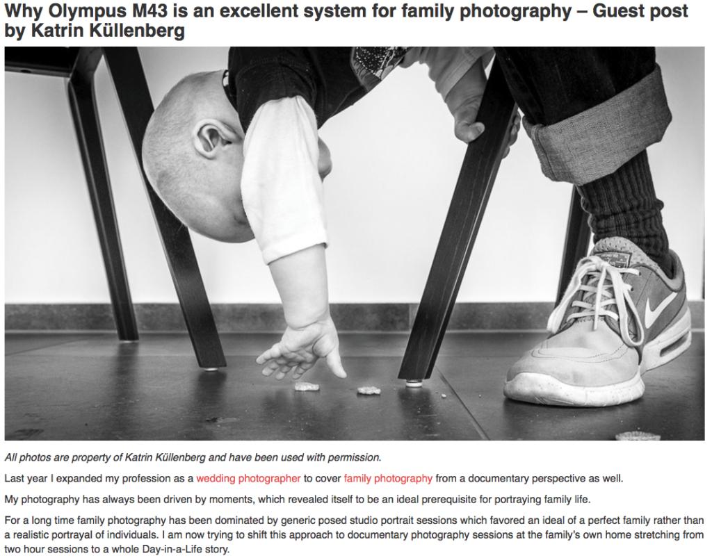 Olympus Kamera für Familienfotos
