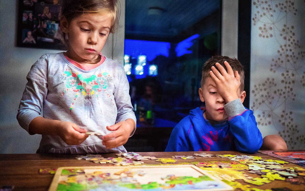 Day in the Life - vier Puzzle  und vier Kinder