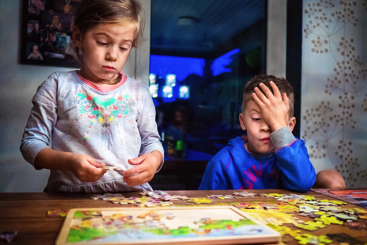 Day in the Life – vier Puzzle  und vier Kinder