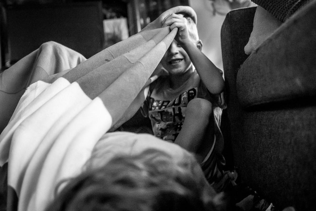 Familienfotos spielende Kinder