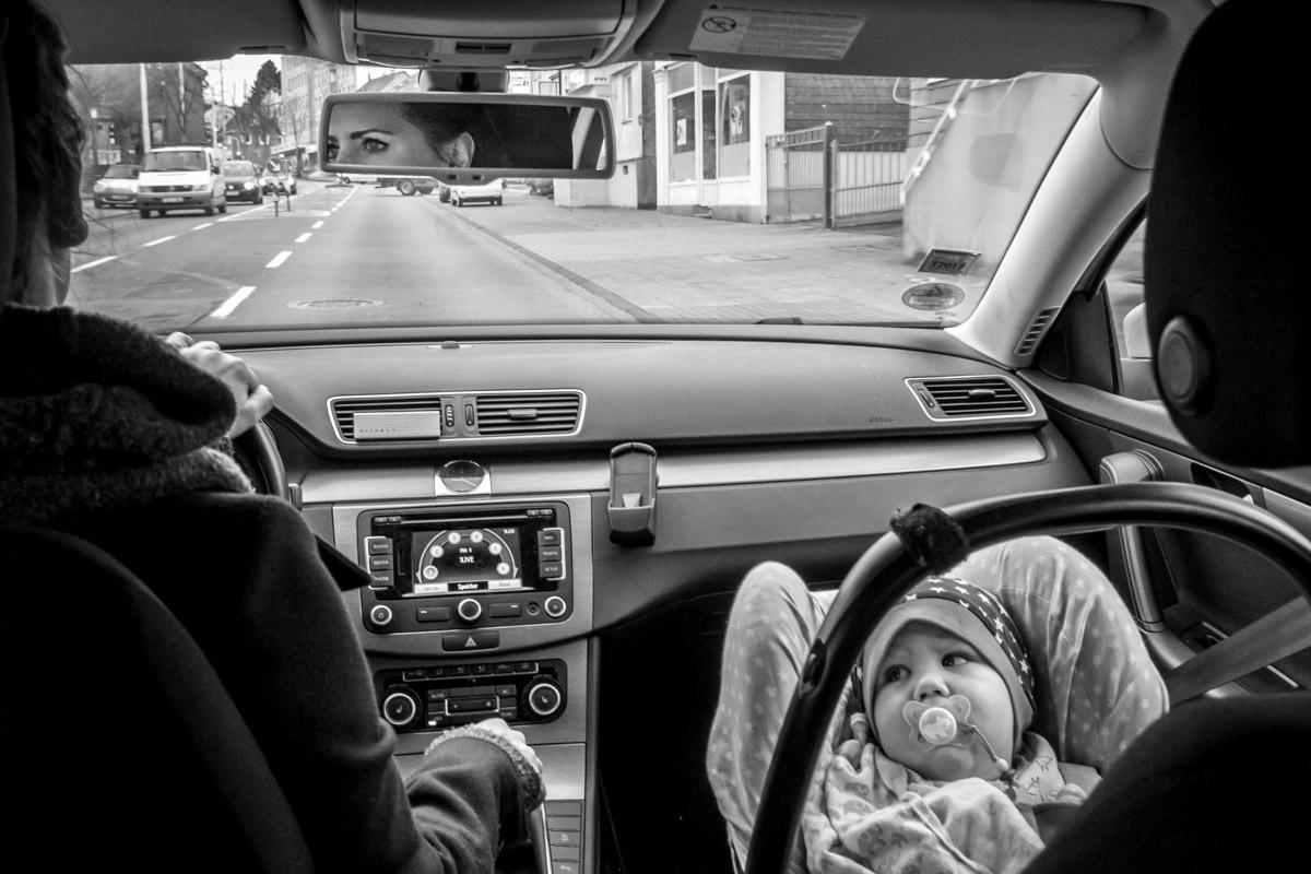 Autofahrt mit Baby moderne Kinderfotos