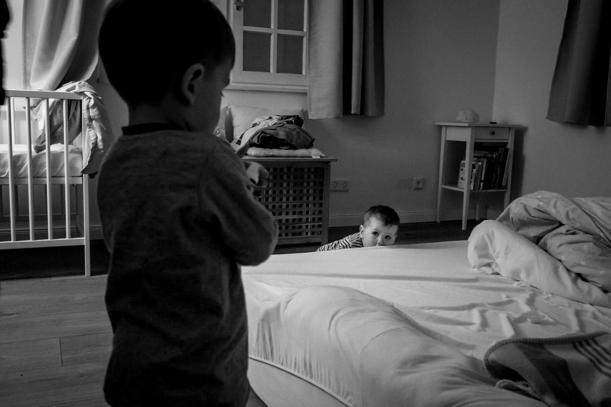 Day in the life Familienfotos mit zwei Jungen