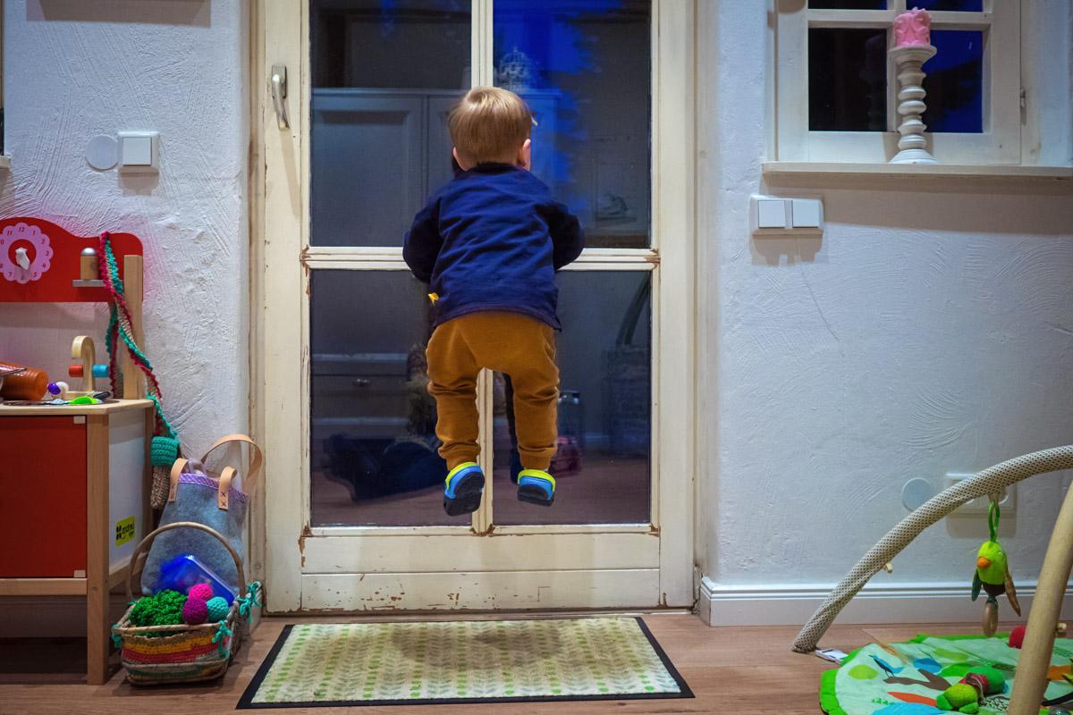 Familienfotos im eigenen Zuhause spannende Momente