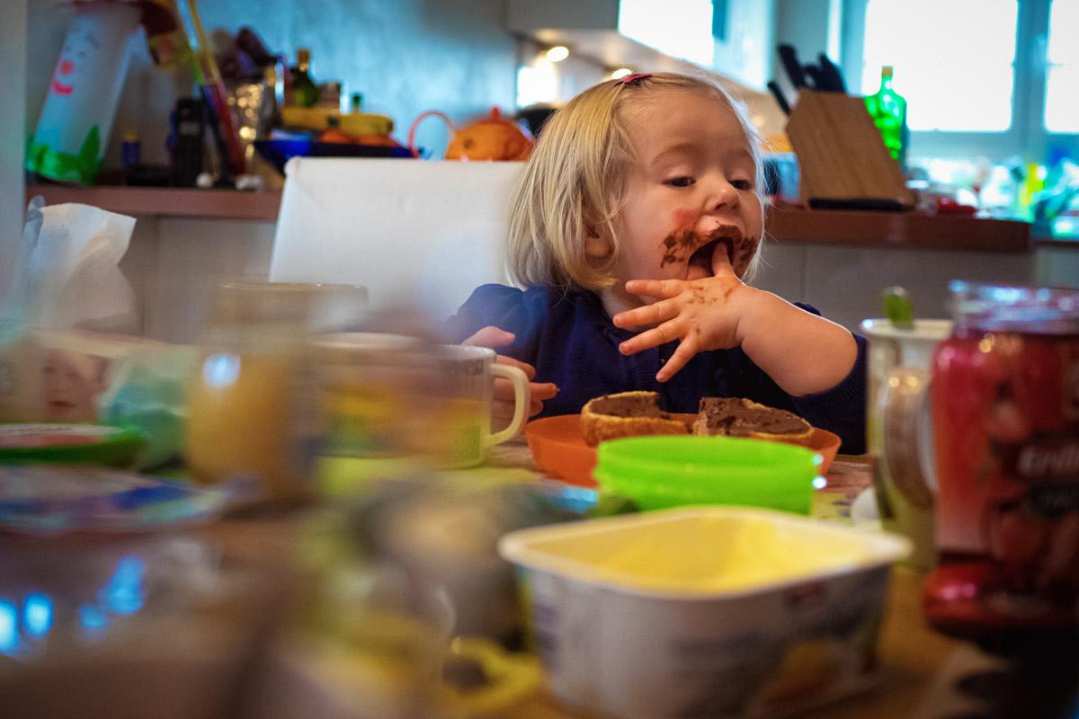 Nutella Frühstück Familienfotos