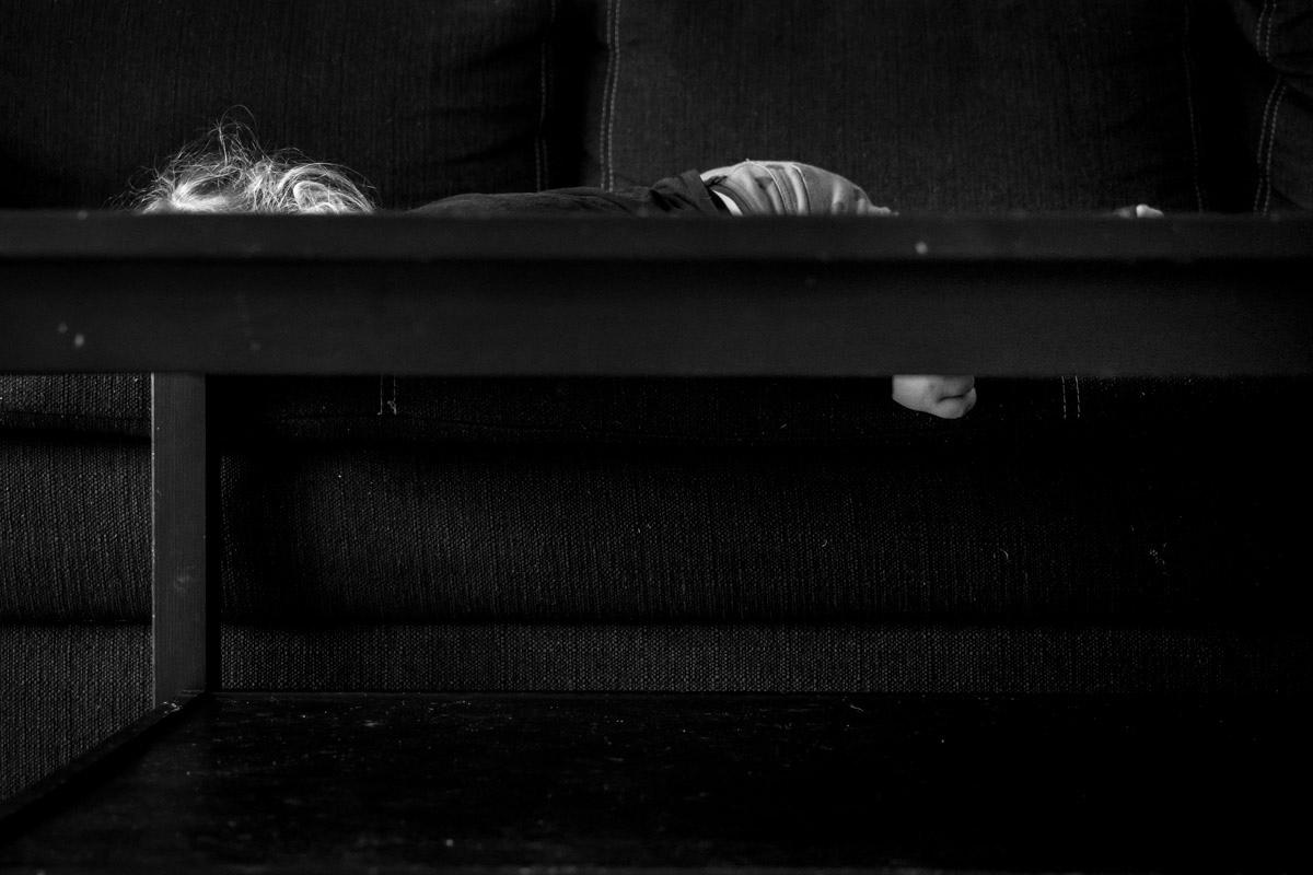 Schlafendes Kind Mittagsschlaf mit Familienfotografin