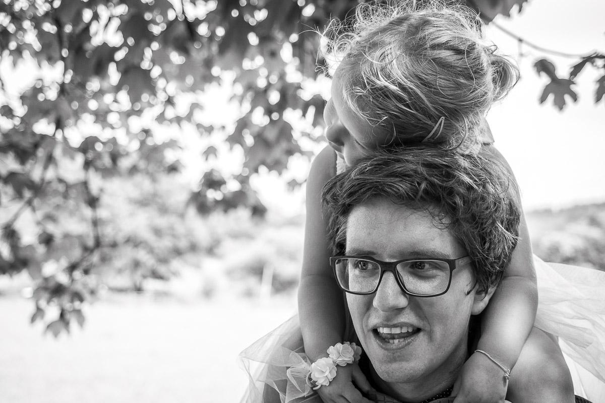 Vater Tochter Porträts mit Familienfotograf