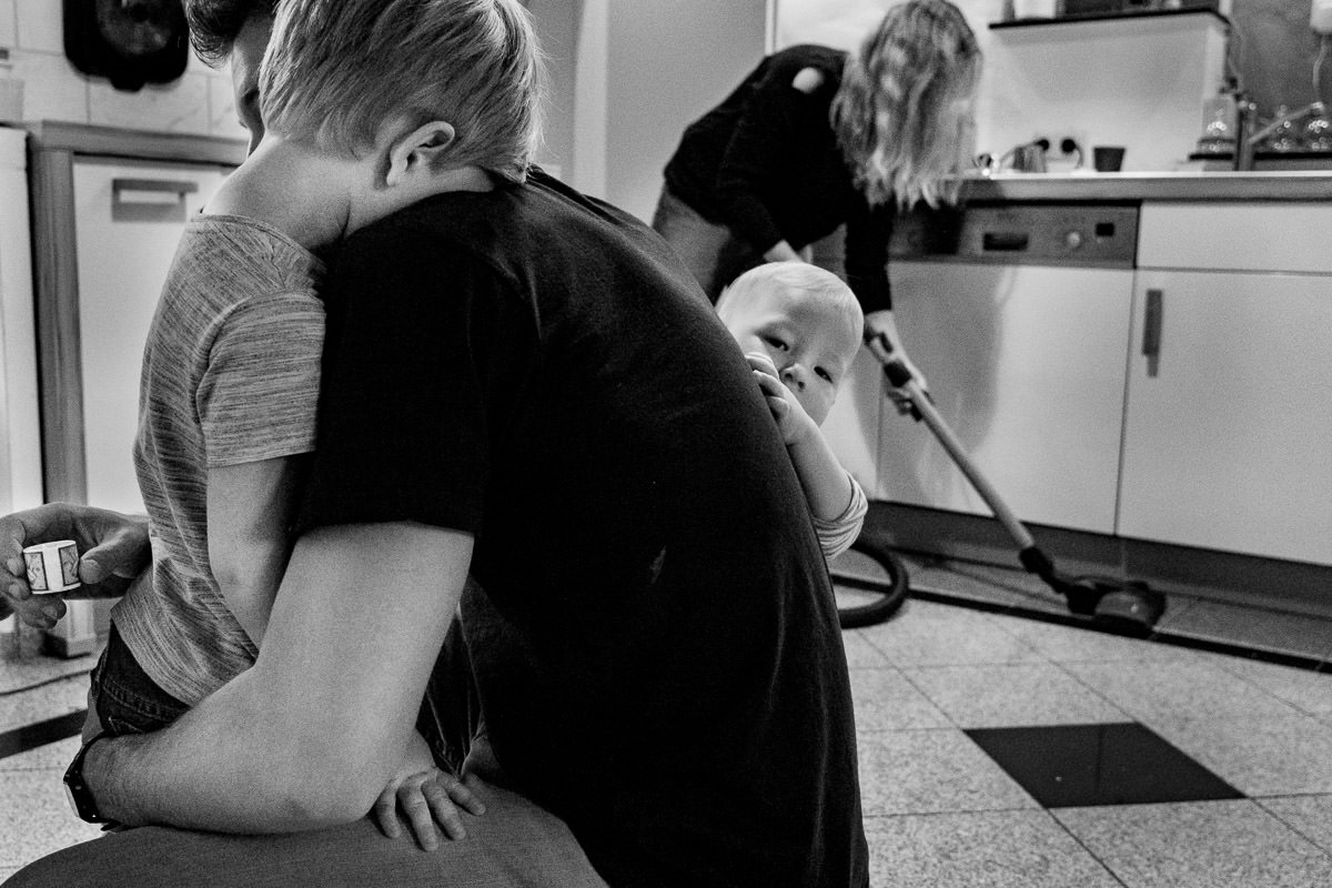 Familie im Alltag Familienfotograf Duesseldorf