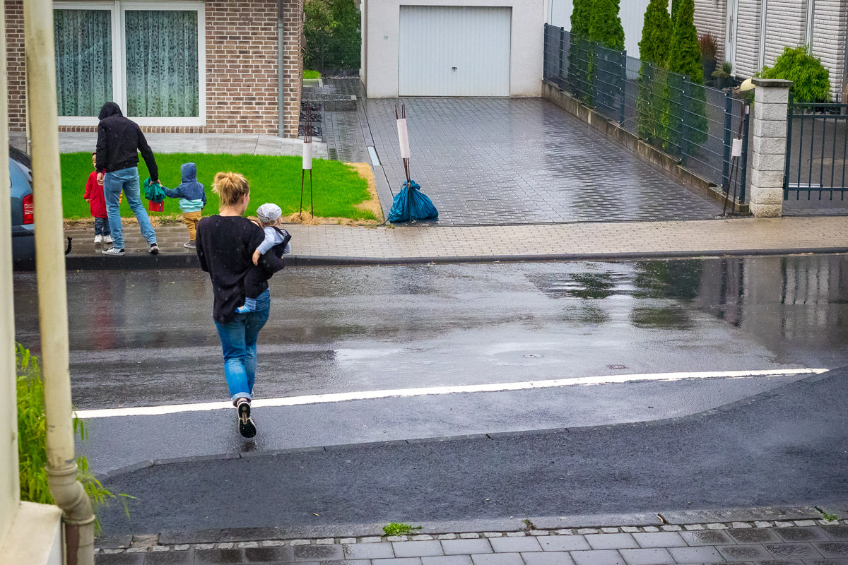 Familienalltag im Herbst Familienfotoshooting Solingen