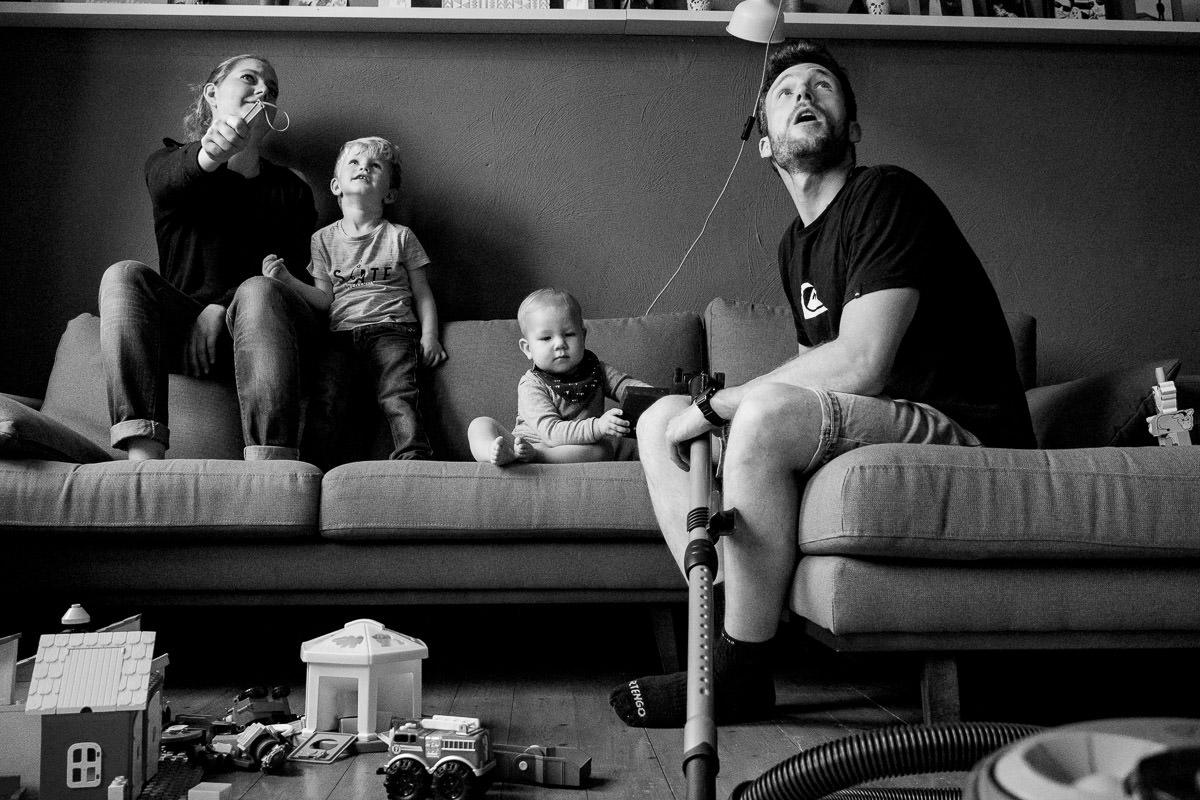 Familienporträt zuhause