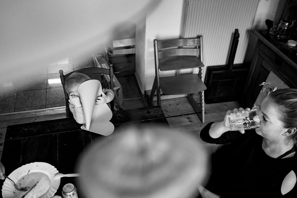 Mittagessen mit Kleinkind Familienfotos Solingen