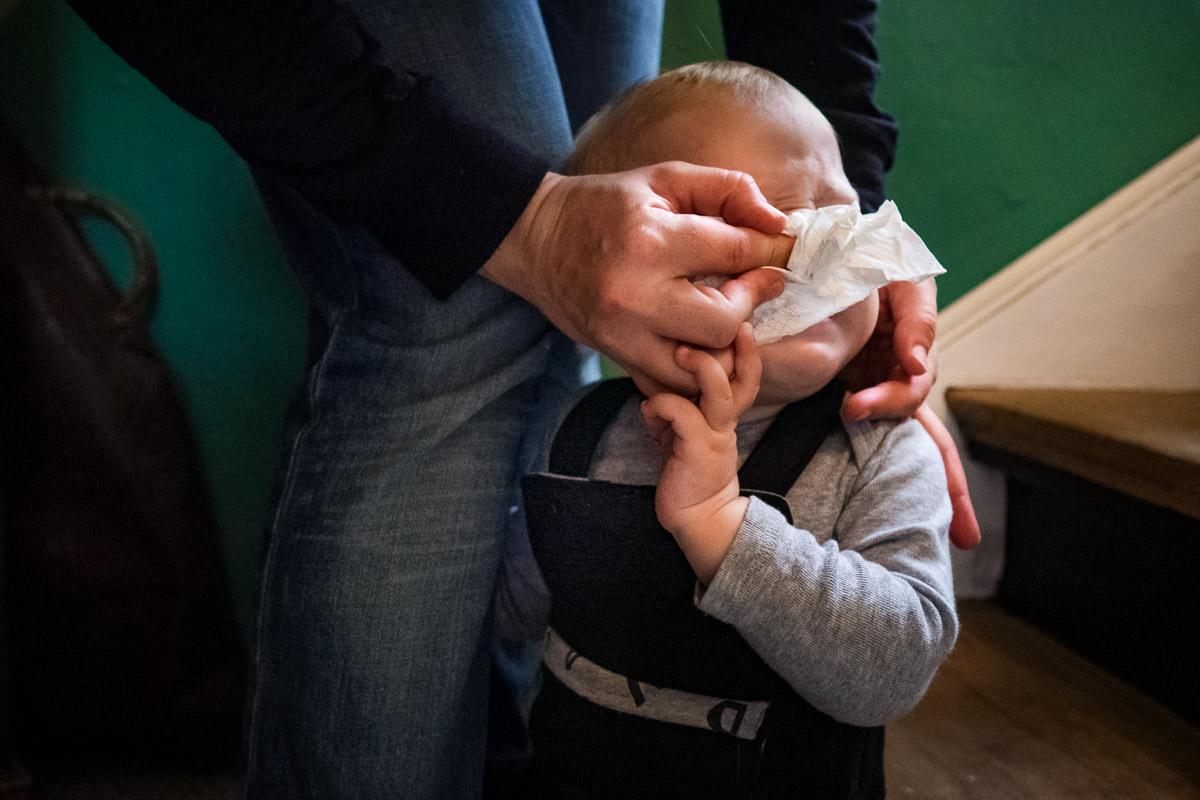Naseputzen Babys Familienfotos Köln