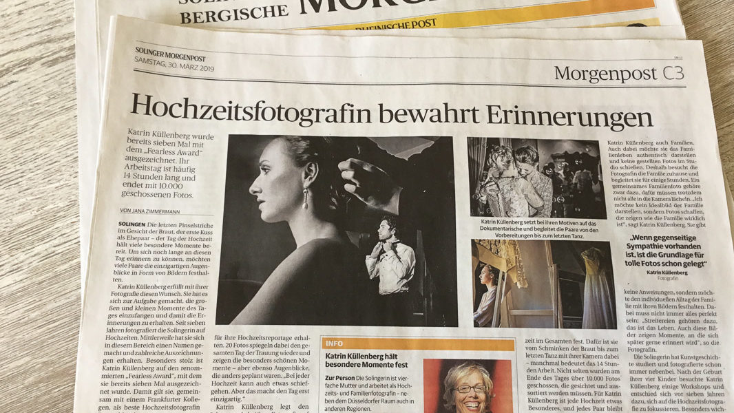 Solinger Morgenpost: Dokumentarische Familienfotografin Solingen