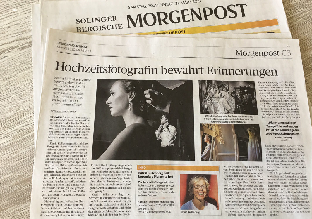 Solinger Morgenpost Hochzeitsfotografin Katrin Küllenberg