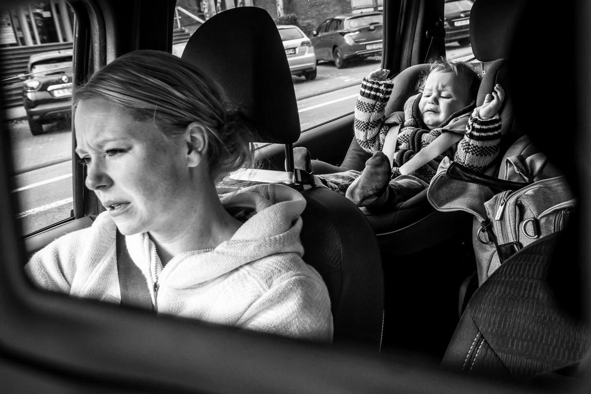 Gestresste Mutter Fotoshooting Düsseldorf