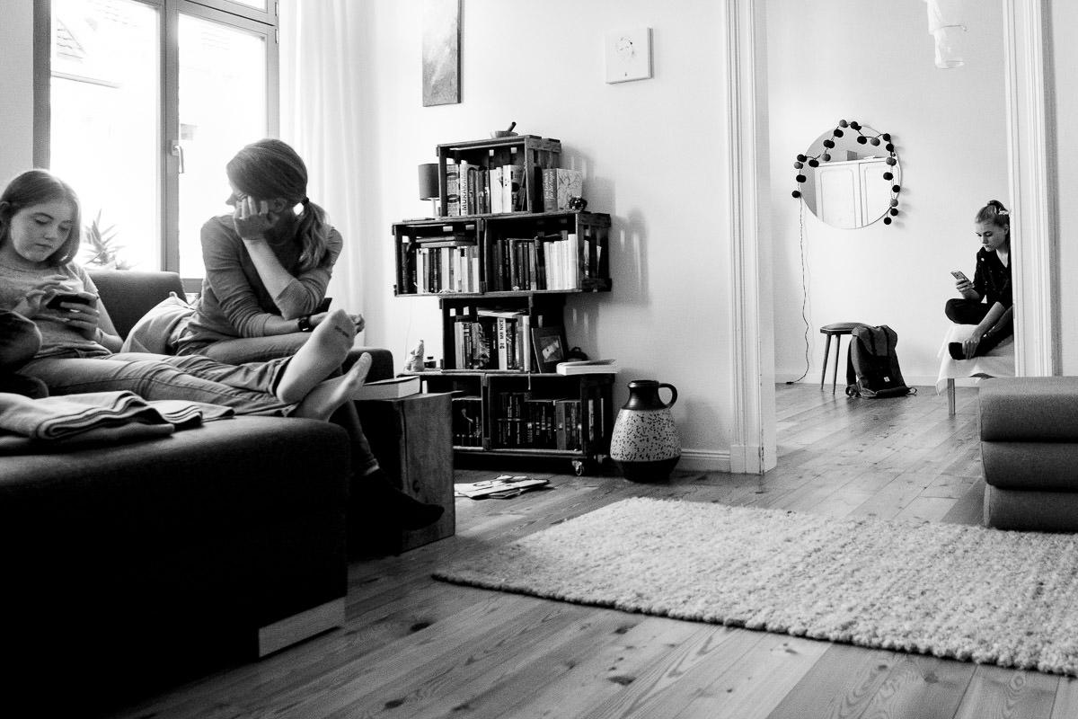 Mutter und Töchter Familienfotograf Düsseldorf