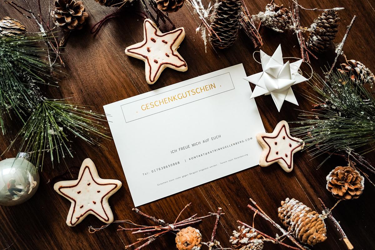 Geschenkgutschein für Weihnachten Fotoshooting Katrin Kuellenberg Familienfotograf